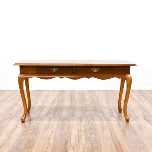 Queen Anne Style Console Sofa Table