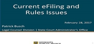 2018 February Webinar - Current eFiling Issues From The Courts