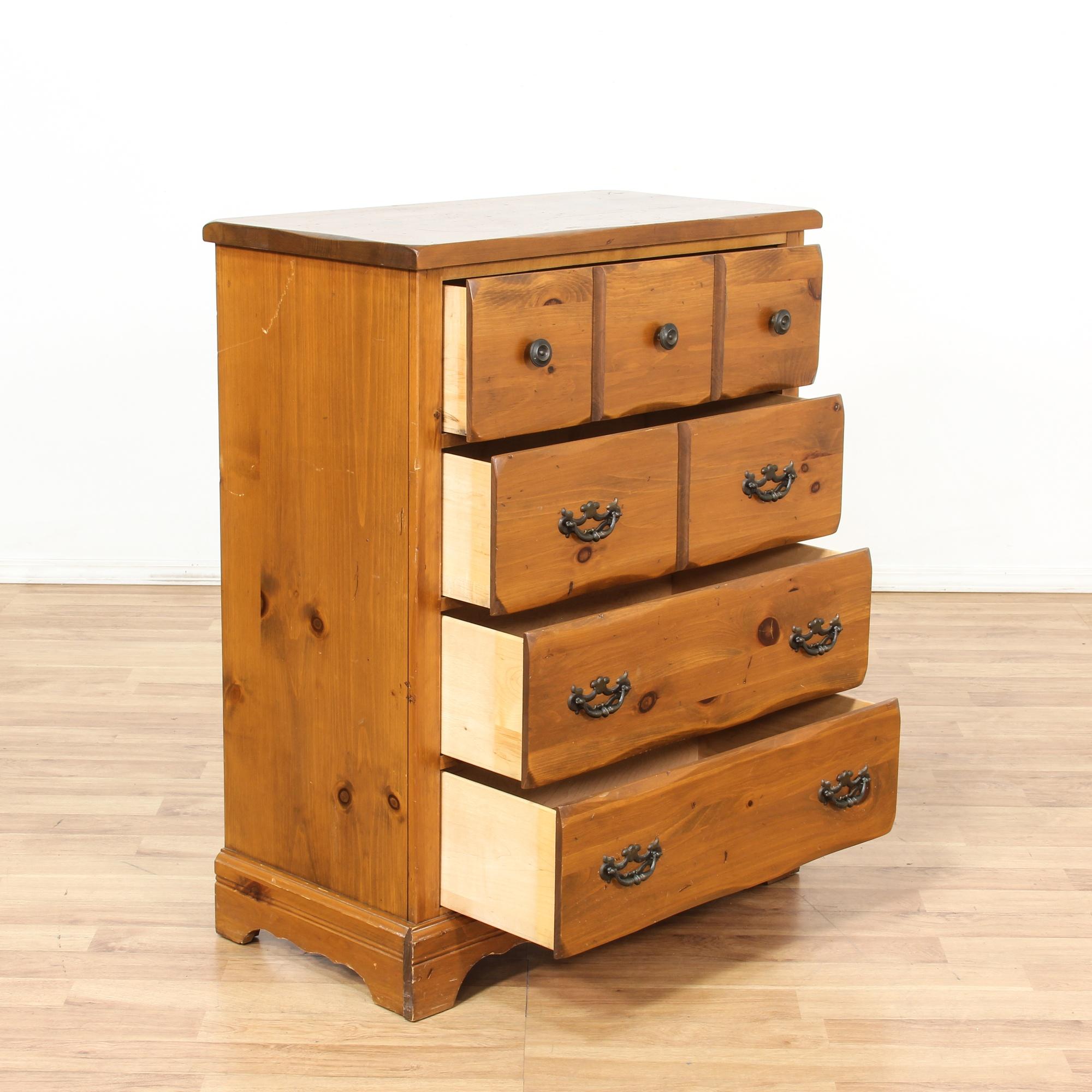 Little Folks Pine Chest Of Drawers Loveseat Vintage Furniture San Diego Los Angeles