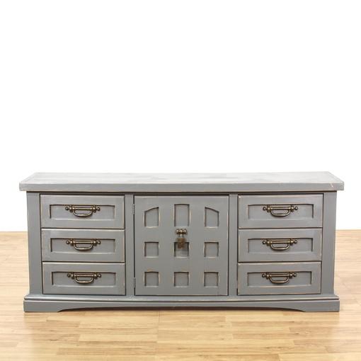 Gray Shabby Chic Long 9 Drawer Dresser | Loveseat Vintage ...