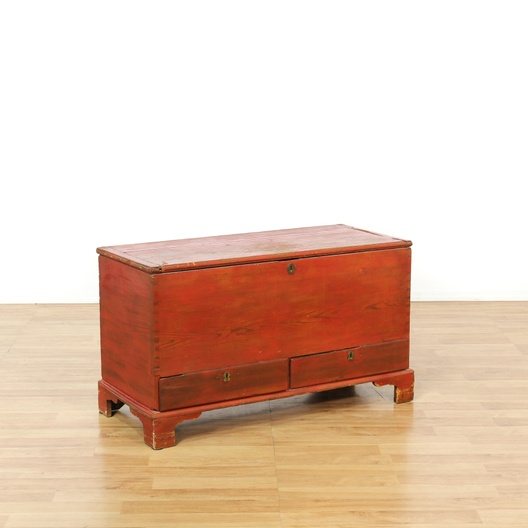 Rustic Antique Red Painted Sugar Chest | Loveseat Vintage ...