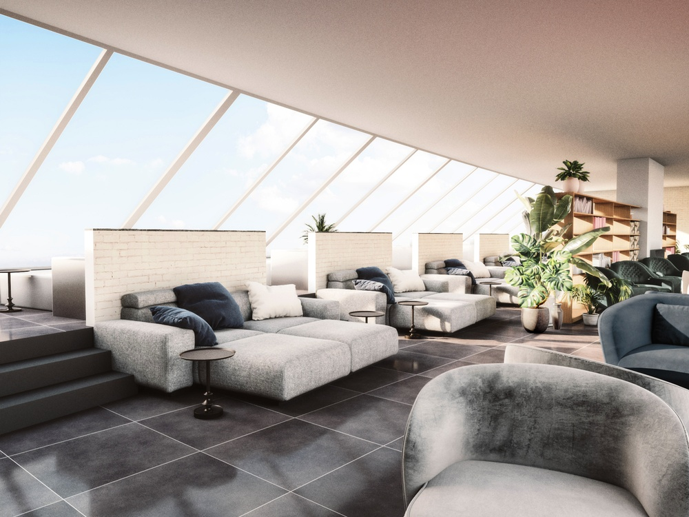 Interiörskiss relax Bild: Arkitekterna Krook & Tjäder AB