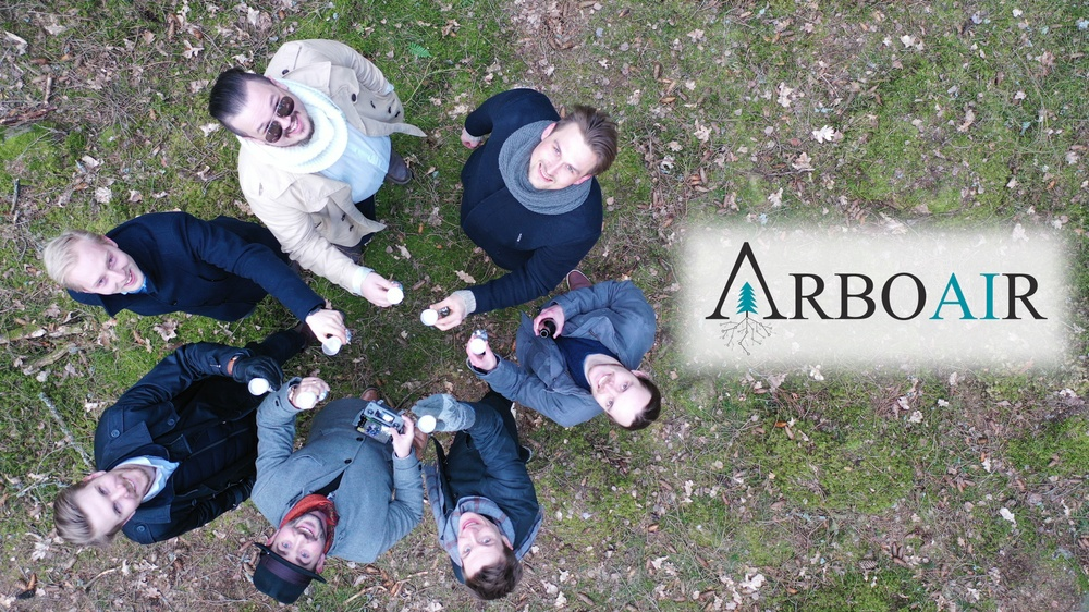 The innovators behind Arboair, a forest scanning technology with 4K cameras, artificial intelligence and colour-shift analysis to detect infected or stressed trees. Photo: Arboair