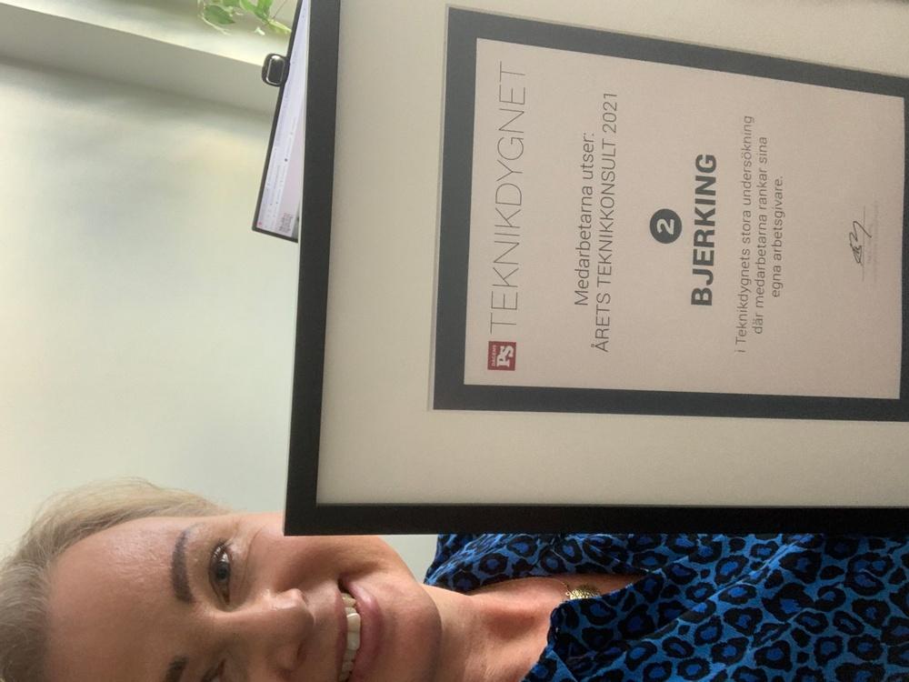 Helena Berg, Kommunikationsansvarig med diplom från Teknikdygnet