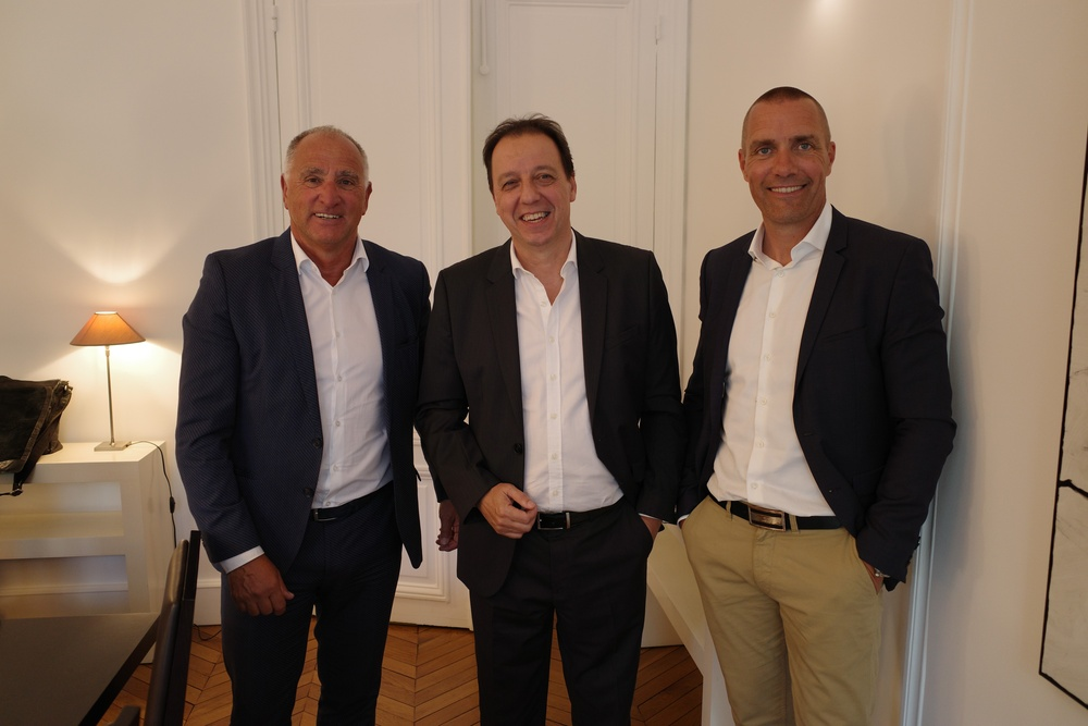 Gerrie Geijssen, CEO and owner of Transcontinenta Group, Melchior Lopez, CEO and owner of Digit Access and Jonas Wernbo, CEO and co-owner of Focus Nordic