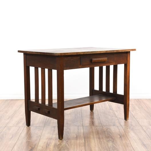 Antique Mission Arts Craft Style Desk