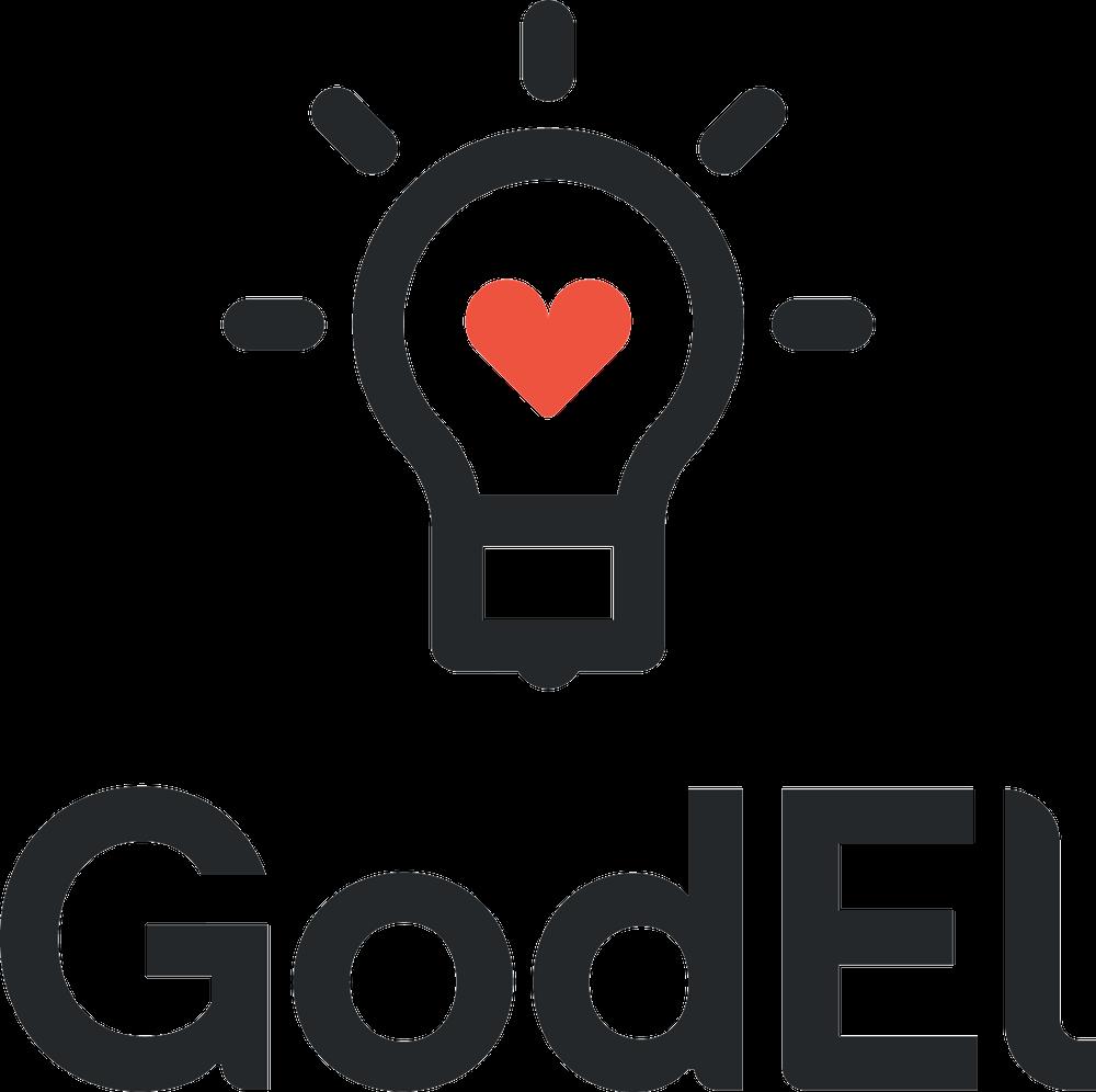 GodEl logotyp stående - postitiv