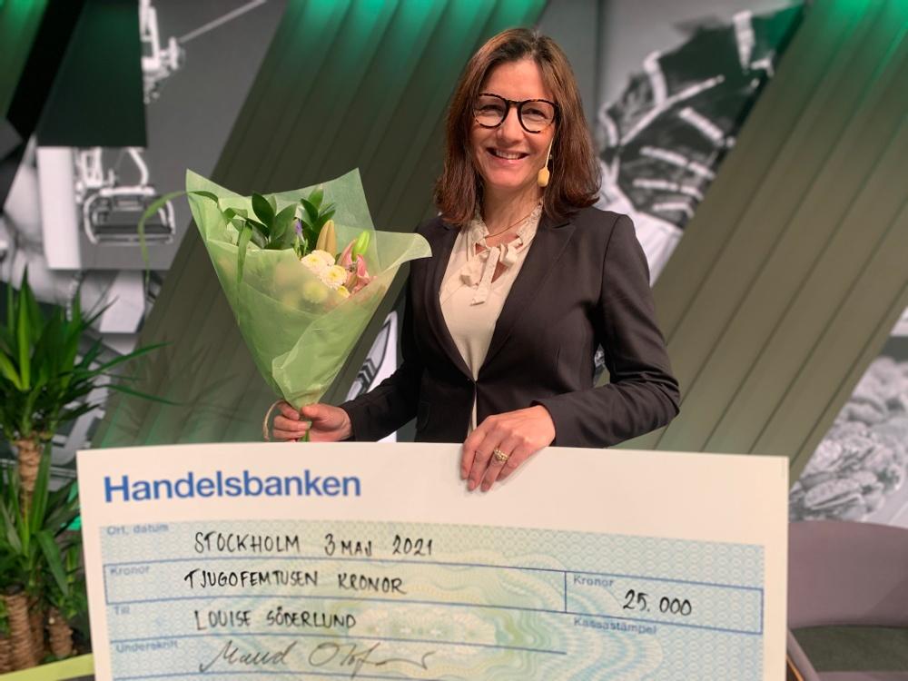 Louise Söderlund, Årets kvinna i besöksnäringen. Foto: Visita