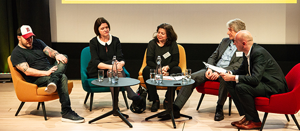 From left: Neil Rankin, Kate Nicholls, Rebecca Mascarenhas, Robin Rowland and James Stagg