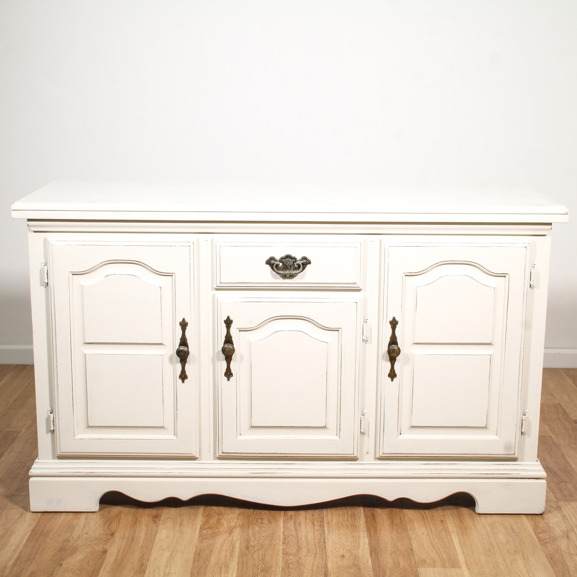 White Shabby Chic Buffet Cabinet Loveseat Vintage