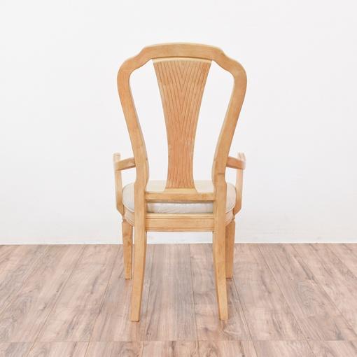 Carved Blonde Wood Dining Set W 6 Chairs Loveseat Vintage Furniture San Diego Los Angeles