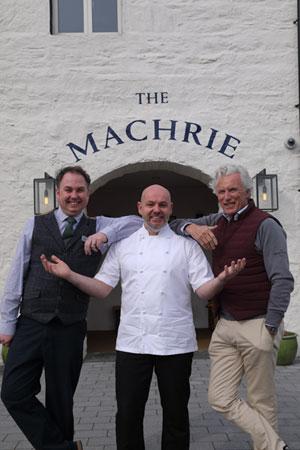 Ian Hamilton, general manager, Darren Velvick, head chef and Gordon Campbell Gray