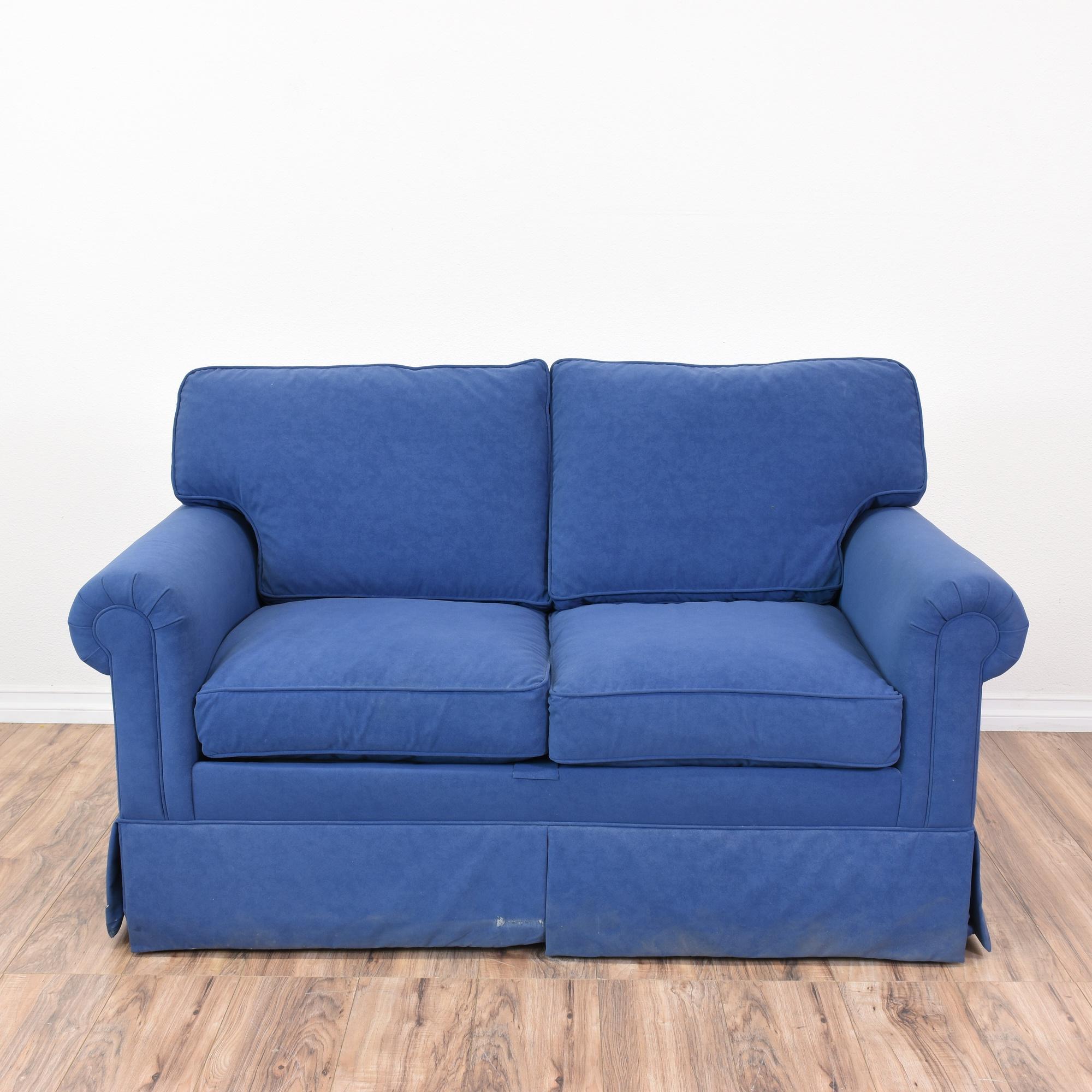 Vibrant Blue Ethan Allen Loveseat Sofa Loveseat Vintage Furniture San Diego Los Angeles