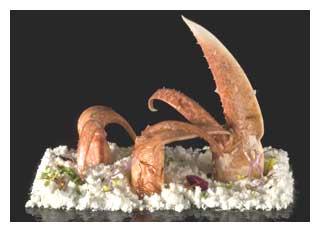 Lobster in white olive oil