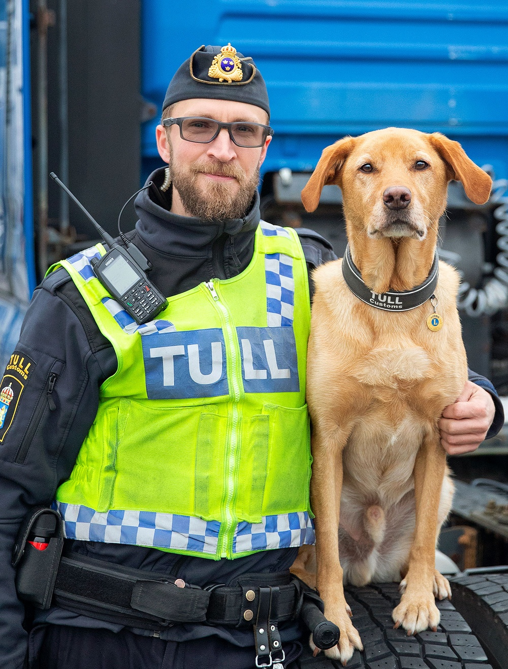 Årets narkotikasökhund 2020 heter Harry och arbetar tillsammans med sin förare Kim Holm vid Brottsbekämpnigsgrupp Malmö. Foto: Mette Ottosson
