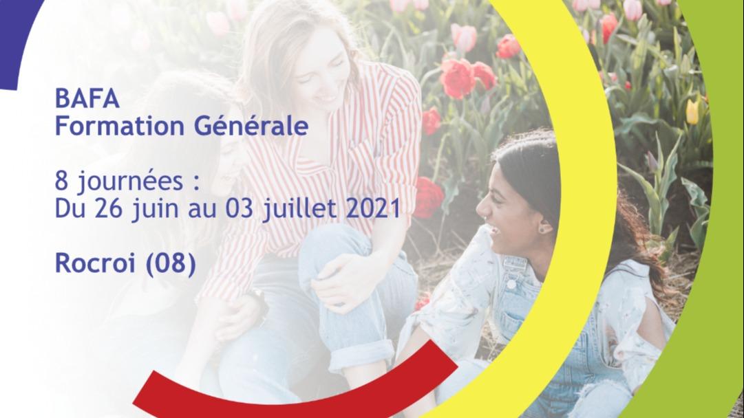 Représentation de la formation : Formation Générale BAFA Juin 2021 - Rocroi (08)