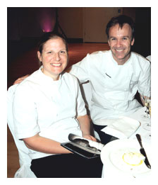 Marcus Wareing and sous chef Chantelle Nicholason