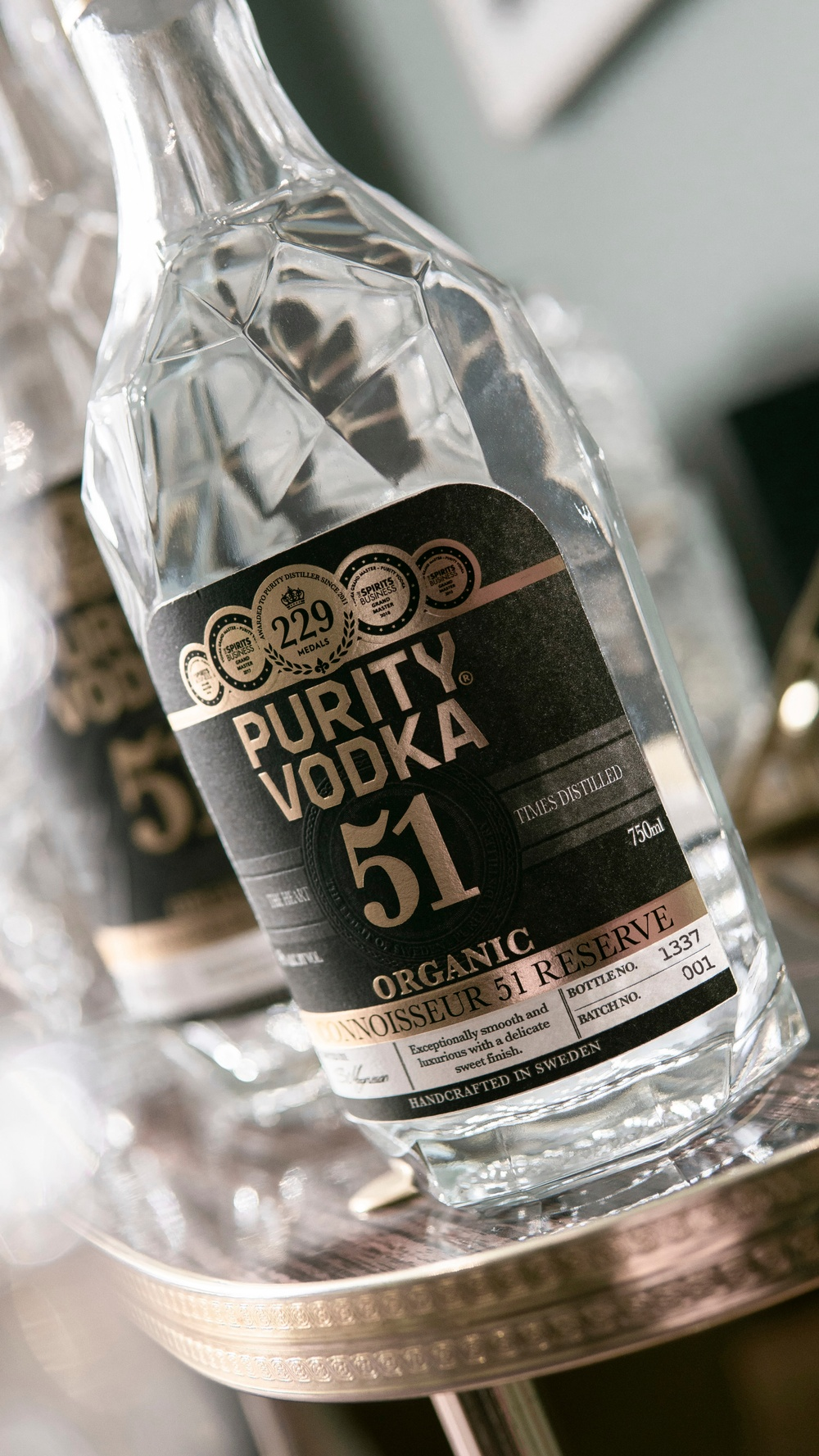 Purity Vodka Connoisseur 51 Reserve Label detail