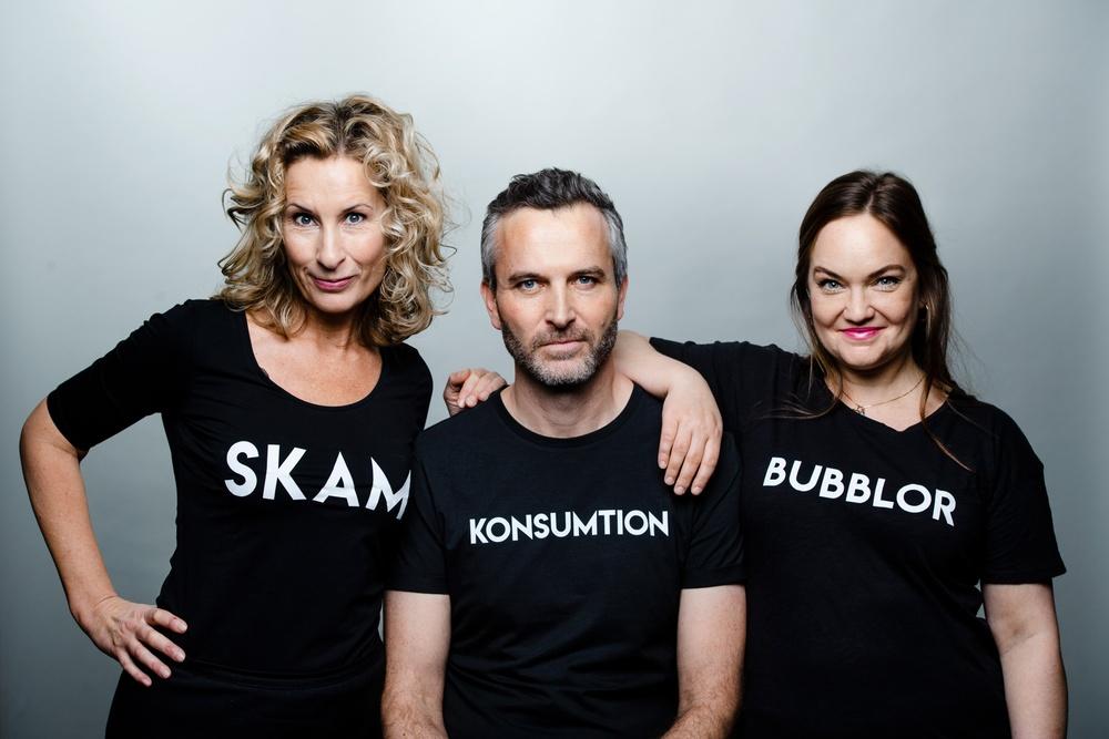 Författarporträtt: Katarina Graffman, Jacob Östberg, Emma Lindblad Foto: Sören Vilks