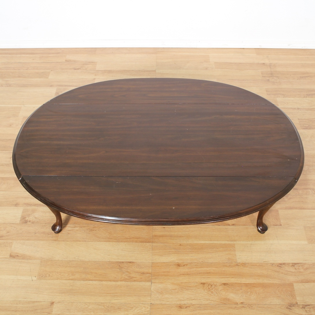 Oval Drop Leaf Scalloped Coffee Table Loveseat Vintage Furniture San Diego Los Angeles