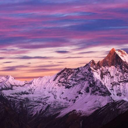 Annapurnas at sunset