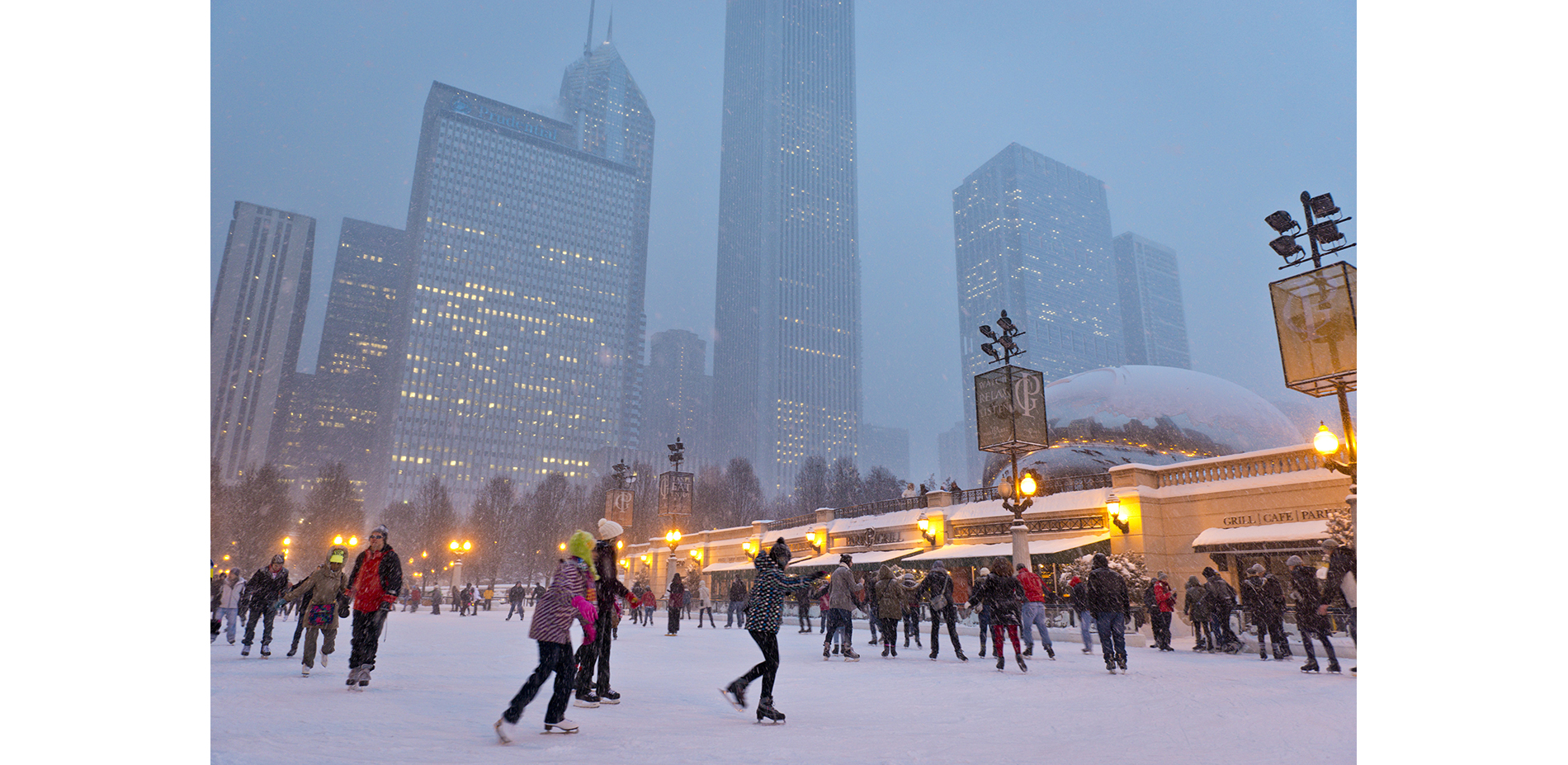 Ice Skating at the McCormick Tribune Ice Rink in Millennium Park