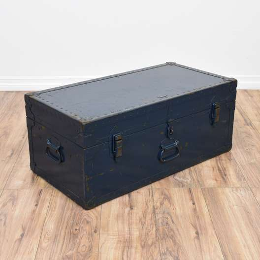 Navy Blue Industrial Trunk