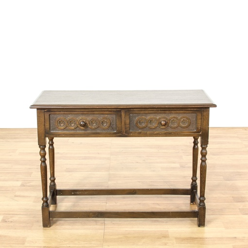 English 2 Drawer Console Table