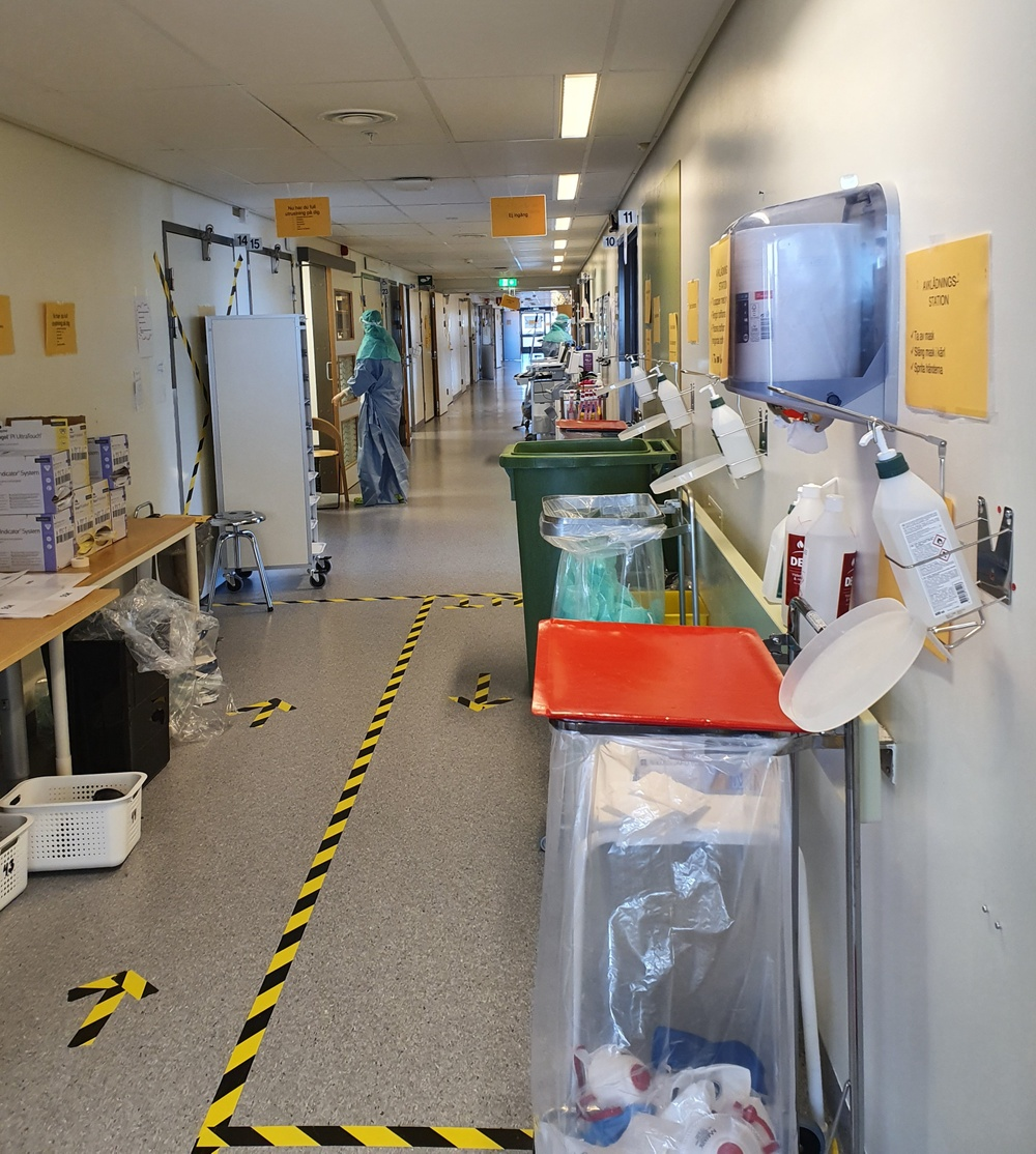 Medicinkliniken Västmanlands sjukhus i Västerås har ställt om till vård av covidpatienter.