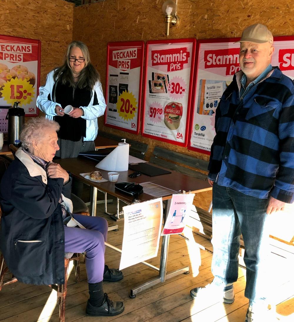 Vision Torsby 2040-arbete. Medborgardialog i Bograngen, hösten 2020. Foto: Sara Johansson.
