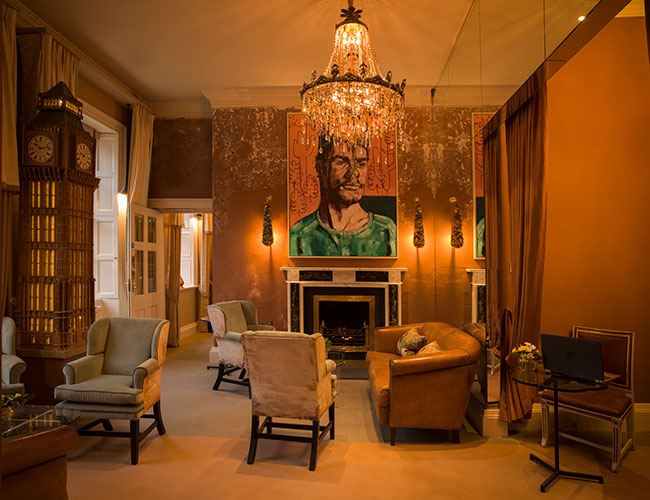 No 15 Great Pulteney, Bath: the reception and sitting room