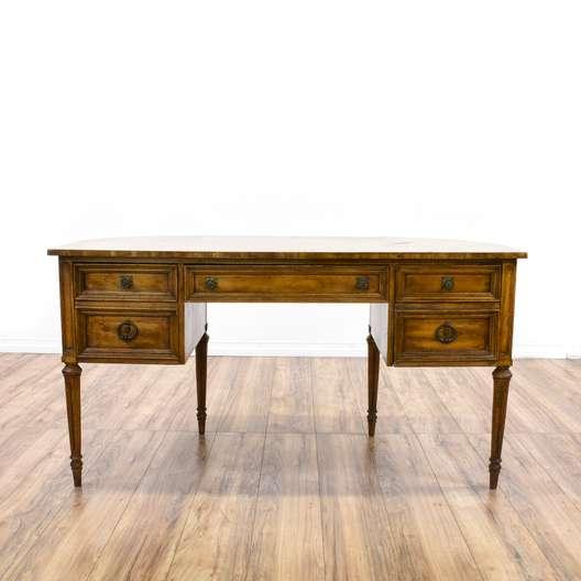 """""""Gordon's"""" Oak 5 Drawer Executive Desk"""