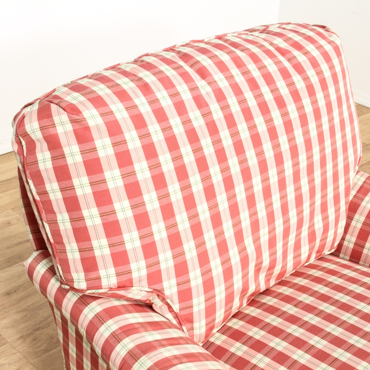 Red Amp White Plaid Gingham Print Armchair Loveseat