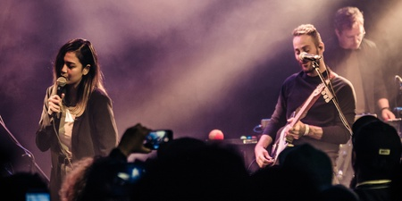 Here's how a fan got to share the stage with American Football