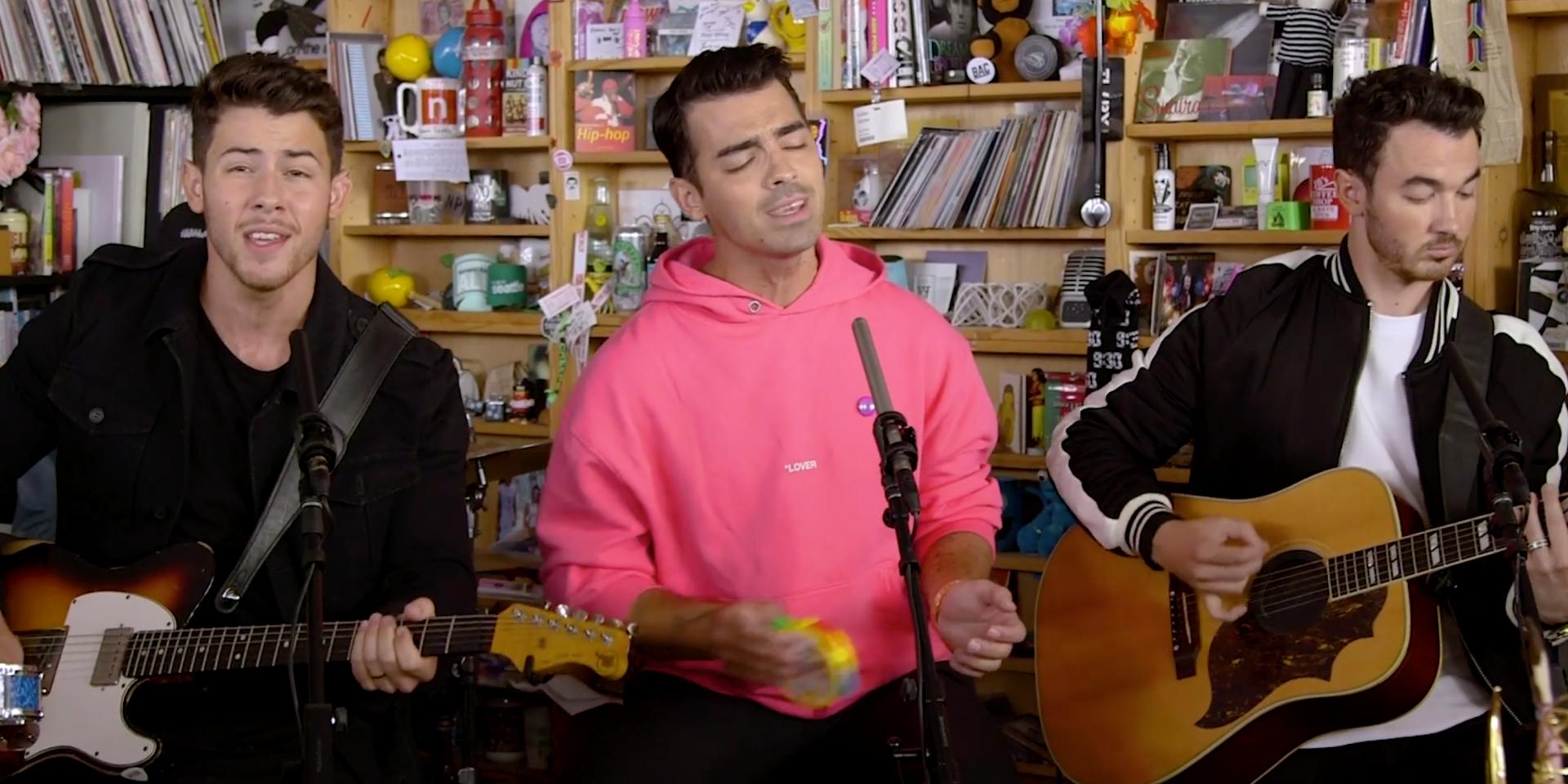 Jonas Brothers performs a playful, refreshing Tiny Desk set