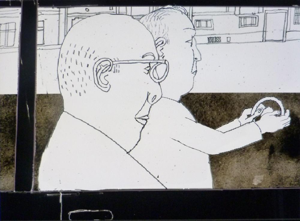 Claes Jurander Stillbild från animationen Hemkomst. 2021