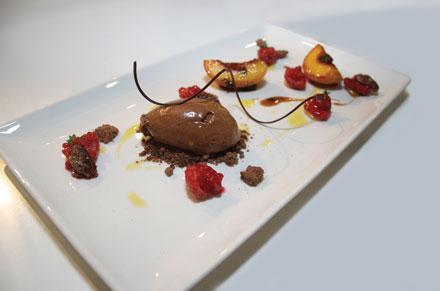 Chocolate peach melba