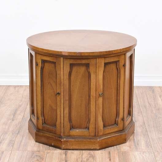 60 Mid Century Modern Vintage Half Moon Coffee Table: Round Pine Wood Ikea End Table