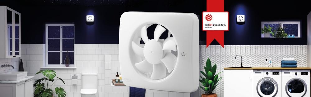 Fläkten passar utmärkt i utrymmen som utsätts för fukt och lukt; badrum, källare eller i ett fritidshus.