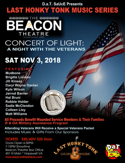 BT- Concert of Light, November 3, 2018, doors 6:30pm