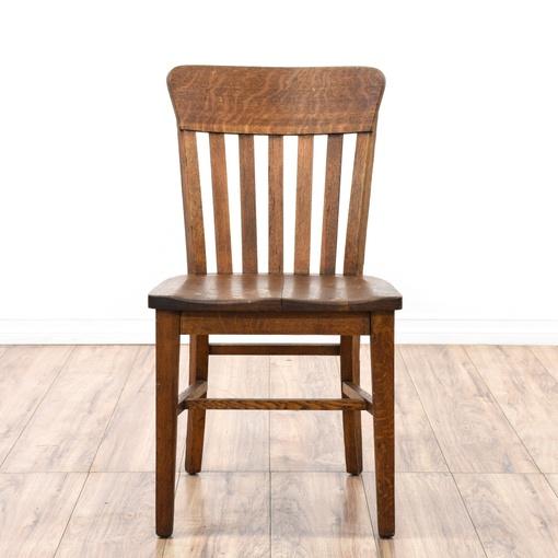 Rustic Tiger Oak Desk Chair