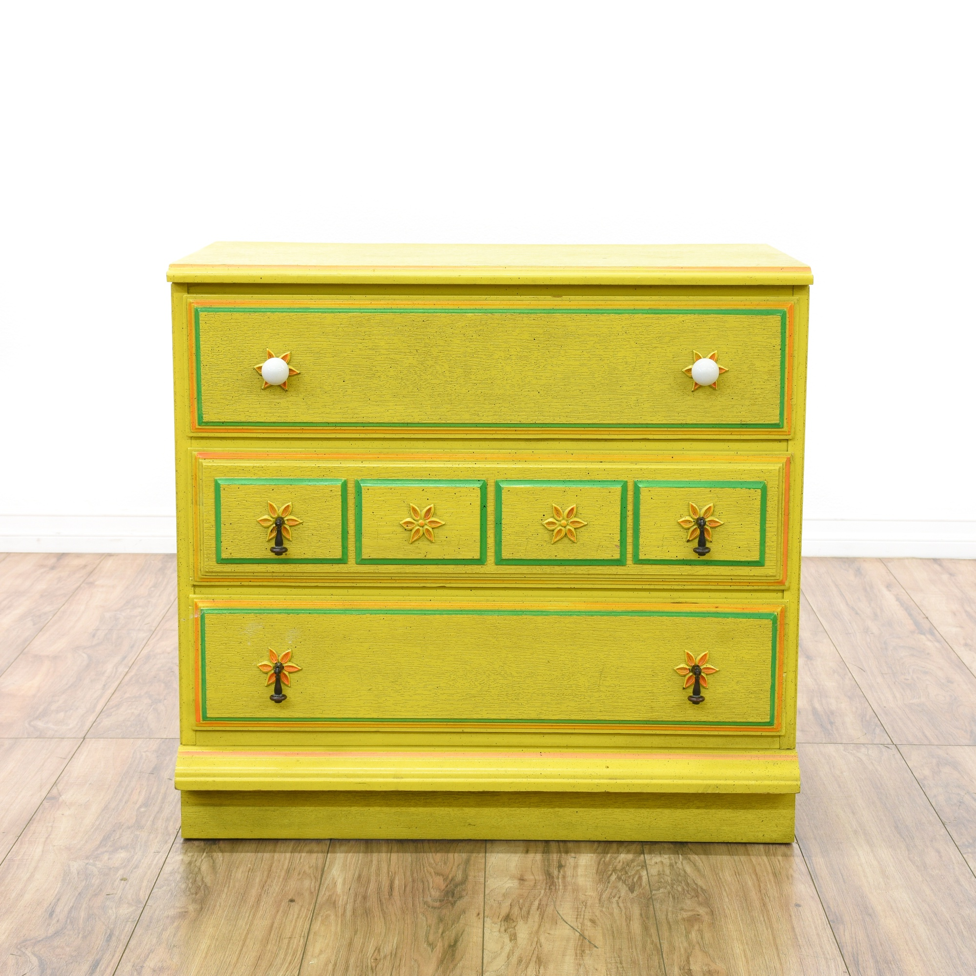Stanley Ole Yellow Chest Of Drawers Dresser Loveseat Vintage Furniture San Go