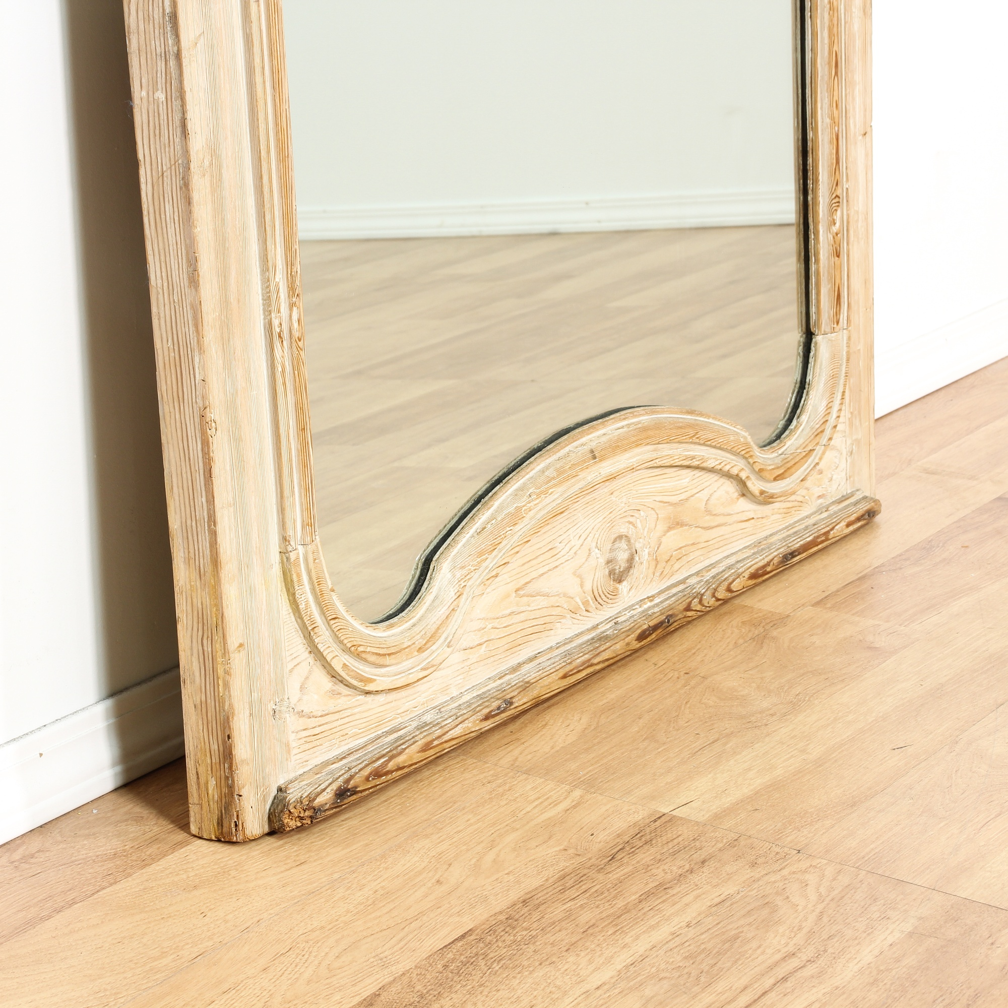 Rustic White Washed Pine Mirror