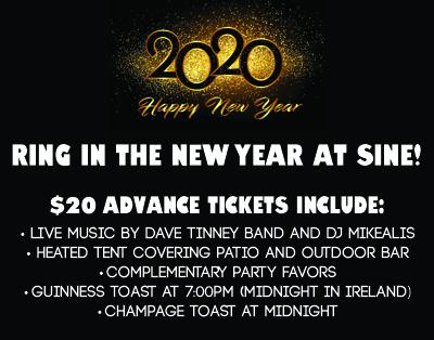 Sine Irish Pub - New Year's Eve 2020 - December 31, 2019