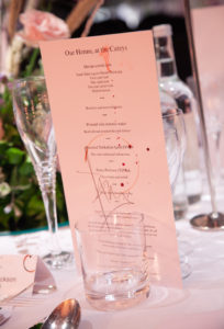 The menu: all were signed and hand-decorated by Paul Cunningham