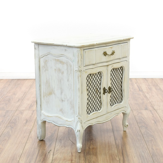 """Chicken Wire Kitchen Cabinet Doors: """"Link Taylor"""" Chickenwire Door Cabinet End Table"""