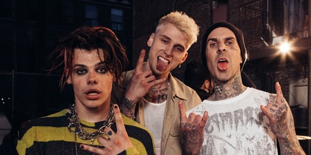 Machine Gun Kelly, YUNGBLUD and Travis Barker of Blink-182 team up for 'I Think I'm OKAY' music video – watch
