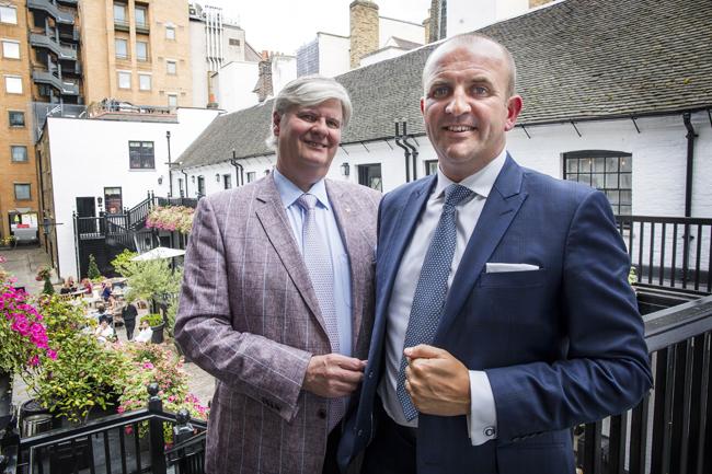 Stuart Procter with Craig Bancroft outside the Stafford London