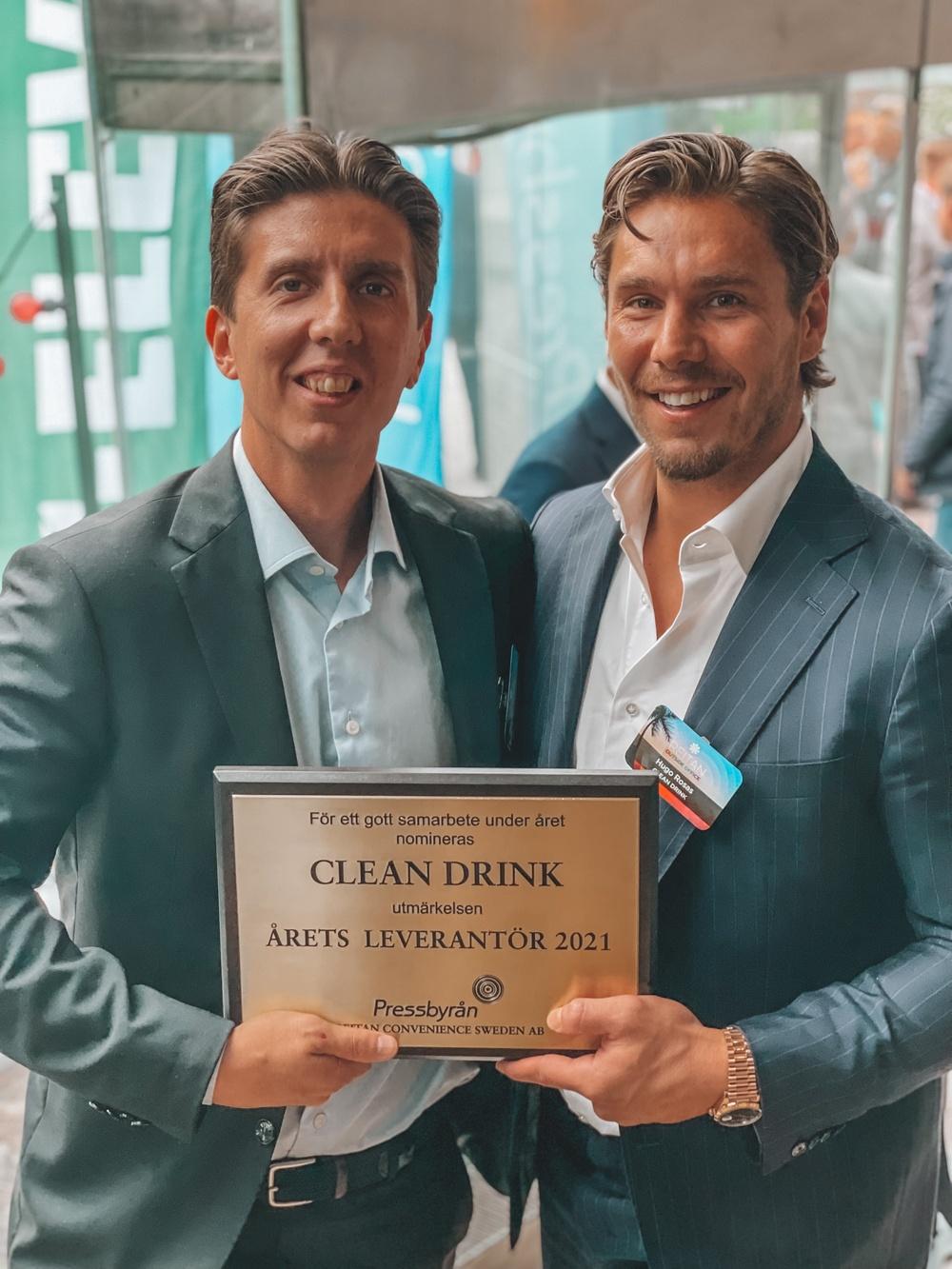 Sebastian Kvissberg och Hugo Rosas mottar nomineringen Årets leverantör hos Pressbyrån