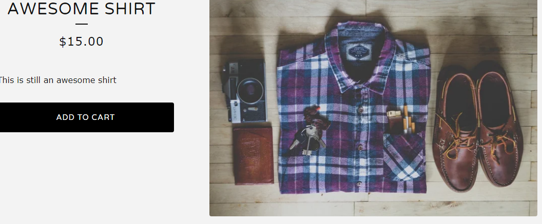 awesome shirt shopify add to cart